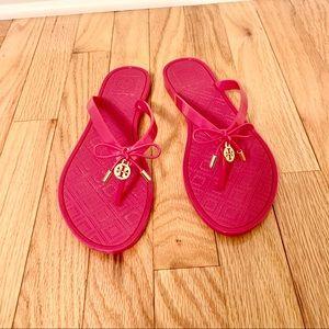 Tory Burch jelly flip flops size 8US